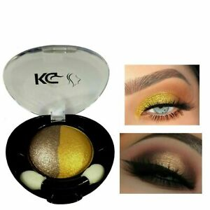KG DUO HIGHLY PIGMENTED COLOUR EYESHADOW 050 BRONZE/GOLD & FREE EYELINER PENCIL