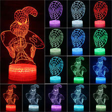 3D LED Night Lights 7 Colors Change Touch Switch Lamp Xmas Gifts Bedroom Decor