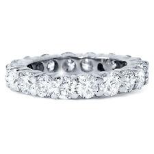3 Quilates Diamante Auténtico Eternidad Boda Blanco Anillo de Oro