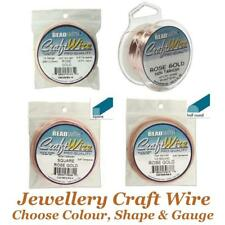 Beadsmith Jewellery Craft Wire Choose Non Tarnish Silver, Gold, Rose, Copper etc