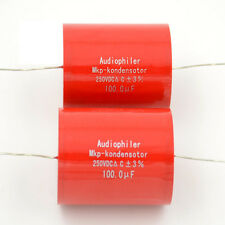 2pcs 100UF 250V Audiophiler MKP-kondensotor Tubular Audio Coupling Capacitors