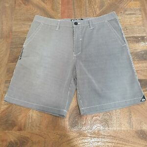 Quiksilver Grey Striped Casual Mens Shorts Size W36