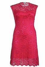 Lace Scoop Neck Stretch, Bodycon Knee Length Women's Dresses