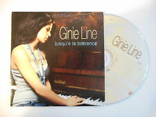 GINIE LINE : JUSQU'A LA TOLERANCE [ CD SINGLE PROMO PORT GRATUIT ]