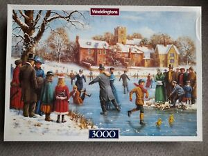 New Sealed contents Waddingtons Skaters 3000 Piece Jigsaw Puzzle by Kevin Walsh