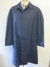 "Genuine Vintage Burberry Prorsum Navy Blue Raincoat Coat Mac Size 42"" Euro 52 R"
