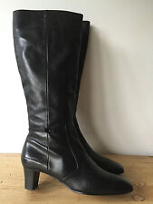 MARC O'POLO LADIES BLACK LEATHER KNEE HIGH BOOTS UK6