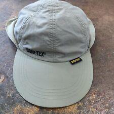 Outdoor Cap Tan GORE-TEX Sun Shade Fishing Hat Flap Toggle Drawstring Terry Band