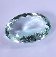 AAA 95.65 Ct Natural Blueish AQUAMARINE Oval Cut Loose Gemstone GIE Certified