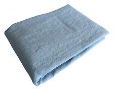 """XXXL Bettlaken Laken 100% Leinen """"Stonewashed"""" 240 x 260 cm, Pastellblau"""