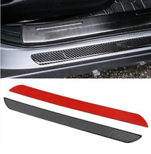 2x Carbon Fiber Car Scuff Plate Door Sill Cover Panel Step Protector Guard 49CM