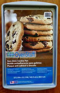 "OvenStuff Non-Stick COOKIE PAN NEW 17.3"" x 11.2"" Heavyweight Steel G&S Metal NEW"