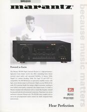 Marantz SR5200 Original Receiver Brochure 2001