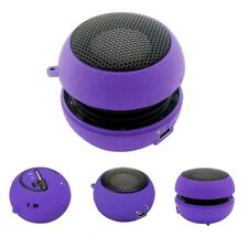 Portable Wired Speaker Audio Multimedia Rechargeable Purple for Phones Tablets