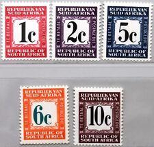 Rsa Sudáfrica South Africa 1968 porto marcas 60-61 63-65 W/o 62 postage due mnh