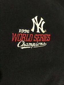 New York Yankees 1996 World Series Champions Vintage 3 Button Down Sweatshirt