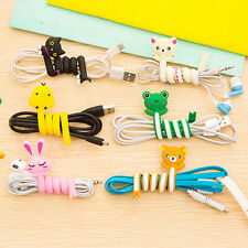 2PCS Cartoon Earphone Cable Wire Cord Organizer Winder For Wirding Thread Tool