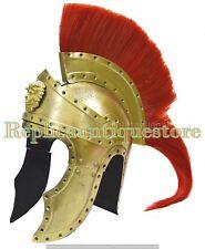 GREEK KING SPARTAN CORINTHIAN HELMET WITH PLUME HANDMADE HELMET-ANCIENT REPLICA