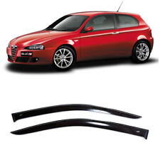 For Alfa Romeo 147 3d 2000-2010 Window Visors Side Rain Guard Vent Deflectors