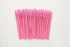 100 Light Pink Disposable Eyelash Brush Mascara Wand Extension Applicator Makeup