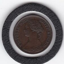 Sharp  1867   Queen  Victoria   Farthing   Bronze  Coin