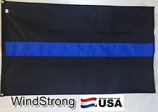 3x5 FT Thin Blue Line Flag Police Cop Flag Sewn Nylon Stripes #1 Quality US Made