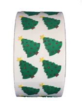 """400 Christmas Tree Fuzzy Stickers in roll of 100 modules Each Sticker 1-1/16"""""""