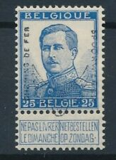 [2125] Belgium 1915 railway good stamp very fine MH value $400. Signed