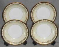 Set (4) 1950s-60s Noritake #5496 BORDEAUX PATTERN Soup Bowls MADE IN JAPAN
