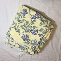 Yellow Blue Floral King Size Duvet Cover Eddie Bauer Home 100% Cotton