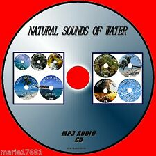 NATURAL SOUNDS OF WATER MP 3CD 9 TRACKS RAIN SEA BROOKS WATERFALLS TROP STORM