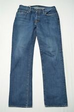 Abercrombie & Fitch 34 x 32 Straight Dark Wash Distressed Denim Jeans