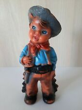 Antique Vintage Rubber Toy Cowboy/Biserka Zagreb Art 172 Yugoslavia