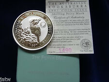 Australia. 1997 2oz - Silver Kookaburra..  Shilling Privy Mark..  BU/SPECIMEN