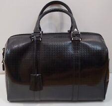 FENDI Donna Designer neri in pelle con logo in rilievo di medie dimensioni Bowling Tote Bag