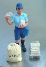 Letter Carrier Gal Miniature Multi Scale Figure for Your Modeling Dioramas