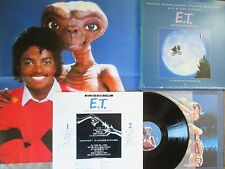 MICHAEL JACKSON E.T. JAPAN LP BOX w/Big Poster+Picture Label+2 Booklets+1 VIM-1