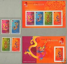 Hong Kong 2000 China Lunar New Year Dragon Stamp +2 S/S
