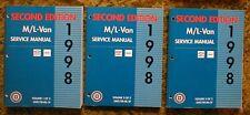 1998 Chevy Astro Van GMC Safari Shop Manual 2nd edition