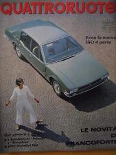 Quattroruote 141 1967 -Ecco la nuova ISO 4 Porte - Salone Francoforte     [Q33]