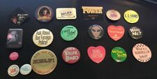 Vintage lot of movie promo and misc buttons/pin backs pins Lot Of 20