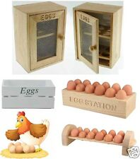 WOODEN CHICKEN 6 OR 12 EGG HOLDER CUPBOARD CABINET KITCHEN STORAGE WOOD RACK NEW