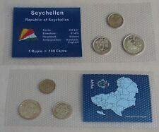 Seychellen 1 + 5 + 10 Cents unz. im Blister