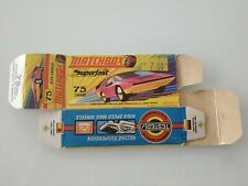 "Matchbox Superfast #75 Carabo Original Empty Box Only Near Mint Without ""New"""