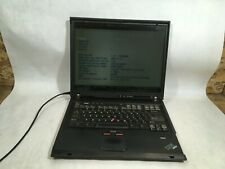 """IBM ThinkPad T42 Pentium M 1.70 GHz 1 GB Ram 15"""" Boots Loud Fan- FT"""