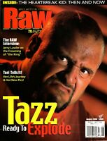 RAW Wrestling Magazine August 2000 Issue TAZZ Cover