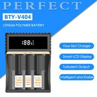 NEW BTY-V407 Smart Battery Charger For AA AAA 26700 18650 26650 Li-ion Li-fe HF