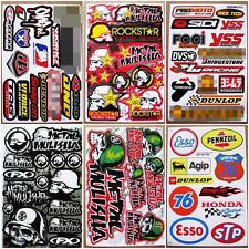 Motocross racing Nascar MX1 Supercross Car Bike Turck Helmet Stickers 6 sheets