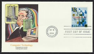 #3106 32c Computer Technology, Fleetwood FDC ANY 5=