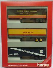 HERPA Nr.7578 Auflieger-Set mit drei US-Koffern - OVP